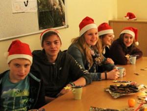 Die getUp Teens feiern Weihnachten